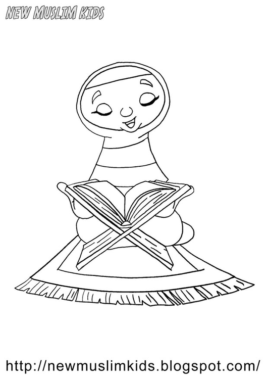 Praying School Coloring Pages