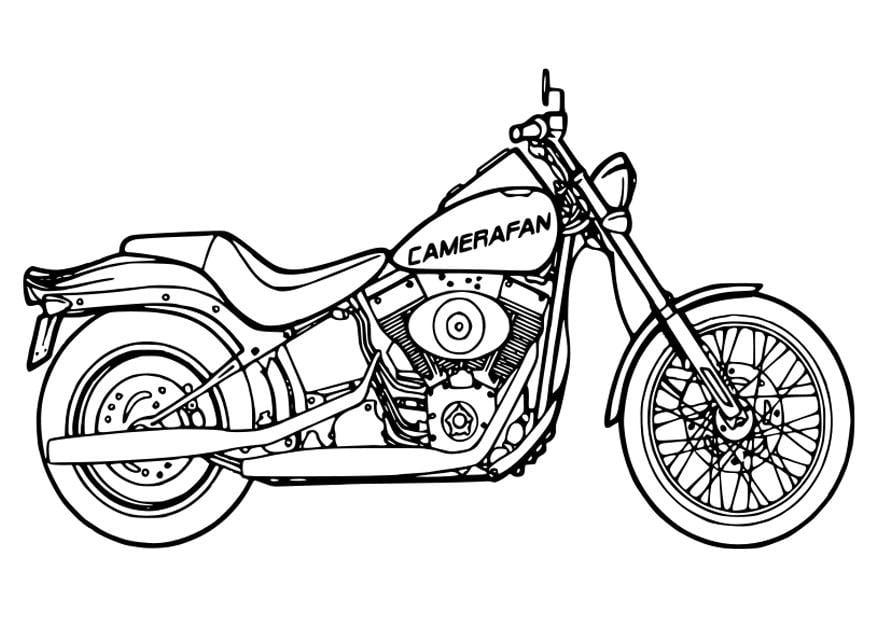 Kleurplaat Moto Afb 26354