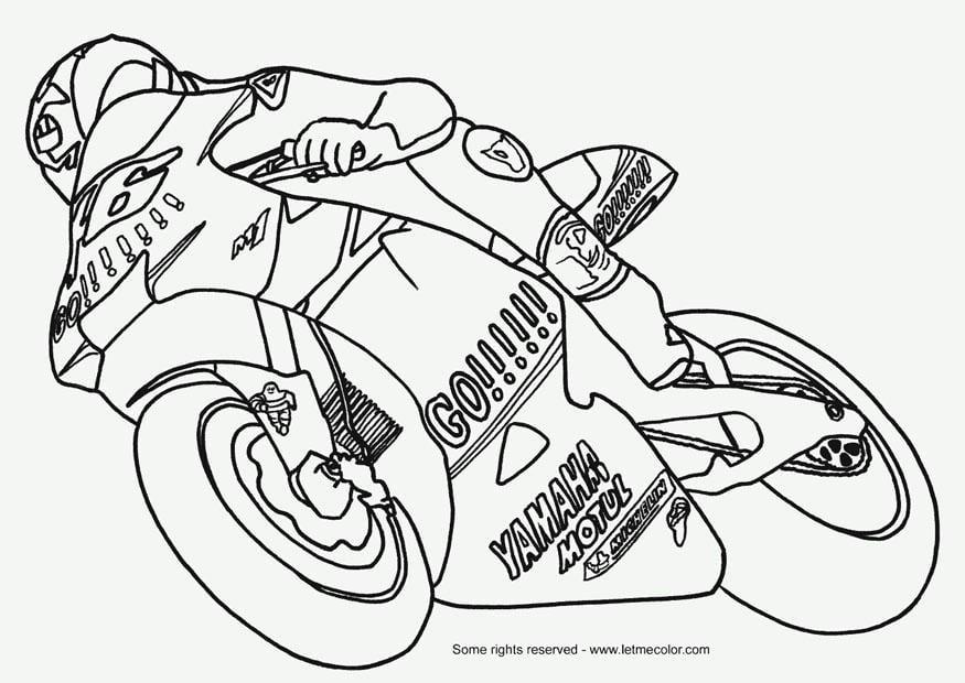 kleurplaat moto