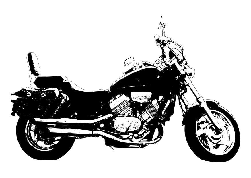 Kleurplaat Motor Harley Kleurplaat Motor Honda Magna Afb 27995