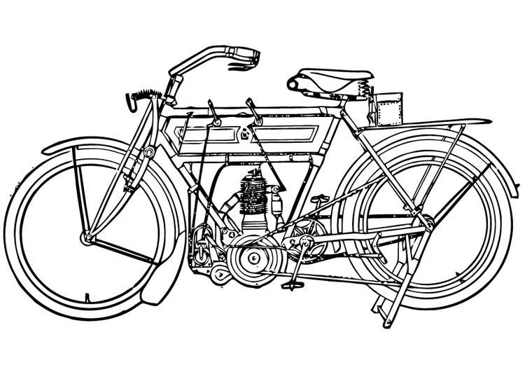 Kleurplaat Motorfiets Afb 16453
