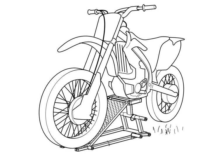 Kleurplaat Motorfiets Afb 19111
