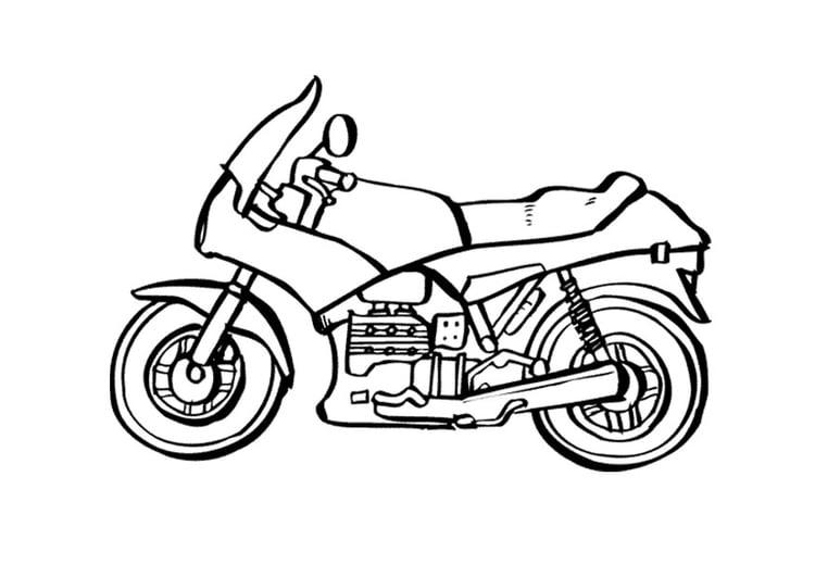 Kleurplaat Motorfiets Afb 9535