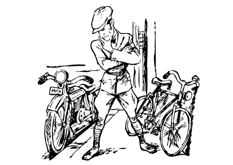 Kleurplaat Motorfiets En Fiets Afb 19162