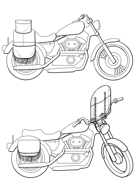 Kleurplaat Motorfietsen Afb 19105