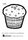 Kleurplaat muffin