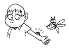 Kleurplaat muggenbeet