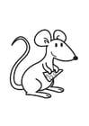 Kleurplaat muis met kaas