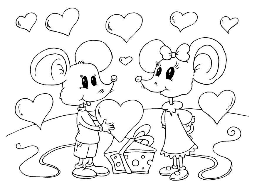 kleurplaat muizen valentijn gratis kleurplaten om te printen