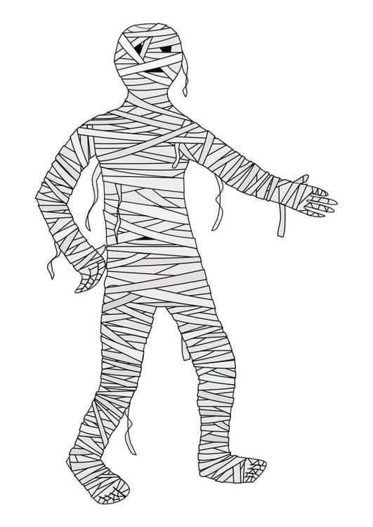 Kleurplaat mummy Afb 22977 Images