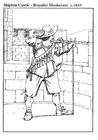 Kleurplaat musketier 1645