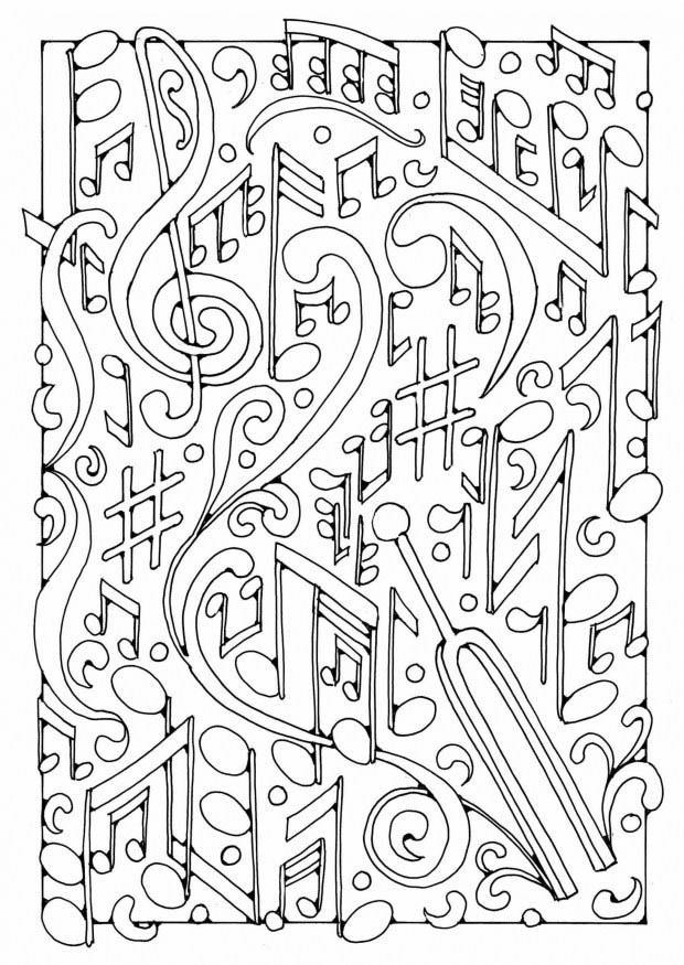 Peace and love coloring book by thaneeya mcardle thaneeya com - Kleurplaat Muziek Afb 19589