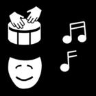 Kleurplaat muziek - expressie
