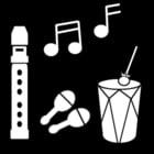 Kleurplaat muziek maken