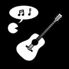 Kleurplaat muziek - zang en instrumenten