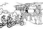 Kleurplaat naar school - basisonderwijs