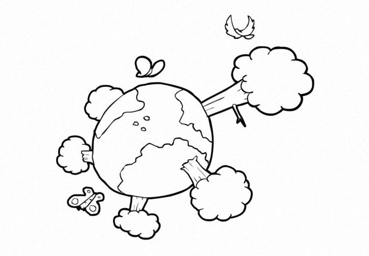 Kleurplaat Natuur Klimaat De Aarde Afb 14917