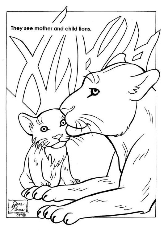 kleurplaat natuurpark leeuwen gratis kleurplaten om te