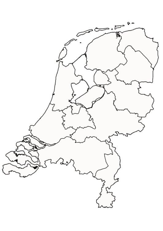 Kleurplaat Nederland Afb 9997