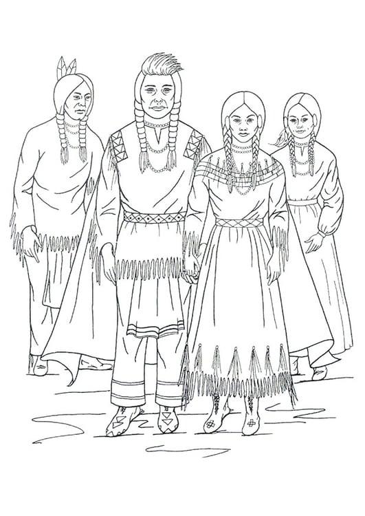 Kleurplaten Indianen Veren.Kleurplaat Nimiipu Indianen Gratis Kleurplaten Om Te Printen