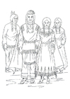 Kleurplaat Nimiipu indianen