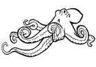 Kleurplaat octopus