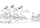 Kleurplaat Oddyseus -de Sirenen