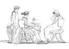 Kleurplaat Oddyseus en Circe