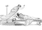 Kleurplaat Oddyseus - Minerva en de koningin