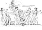 Kleurplaat Oddyseus - Naucica
