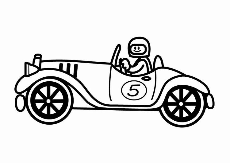 kleurplaat oldtimer raceauto gratis kleurplaten om te