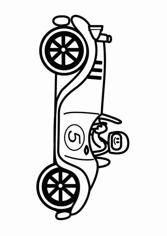 Kleurplaat Oldtimer Raceauto Afb 24108