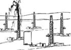 Kleurplaat oliewinning - fossiele brandstoffen
