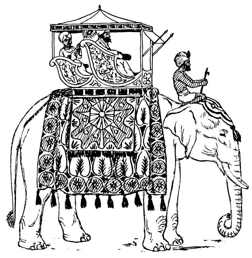 Kleurplaat olifant in india afb 13357 for Indian elephant coloring pages printable