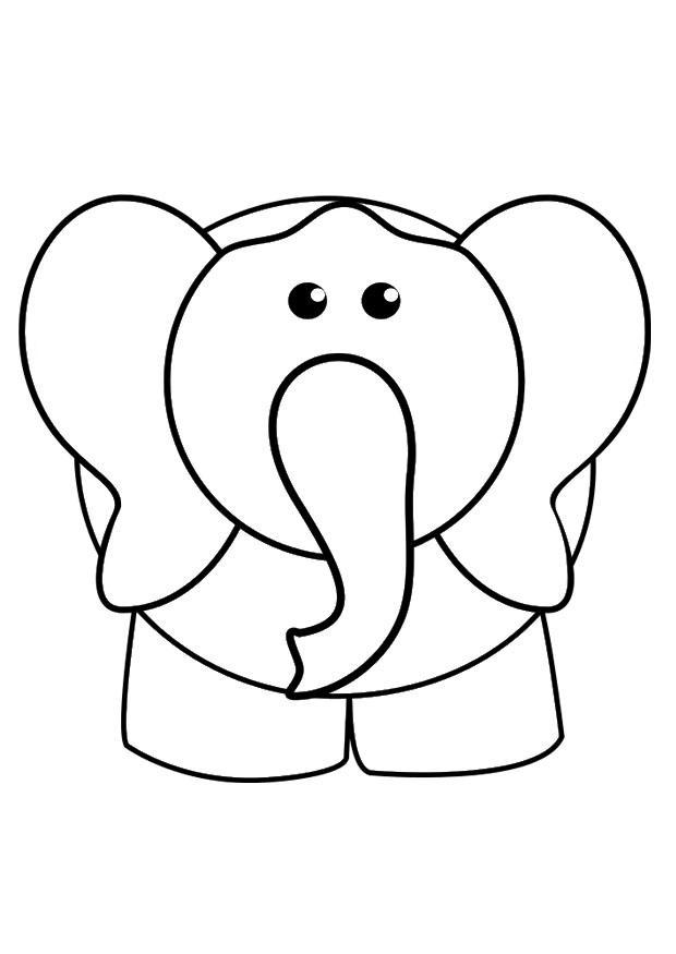 kleurplaat olifant afb 29425