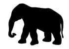 Kleurplaat olifant
