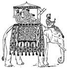 Kleurplaat olifant in India