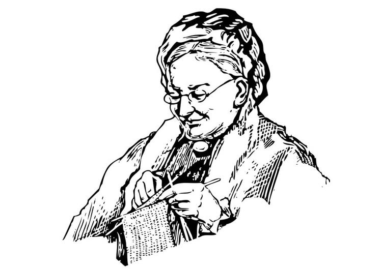 Kleurplaat Oma Afb 17342