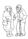 Kleurplaat oma en opa