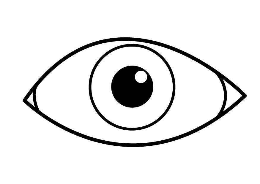 kleurplaat oog