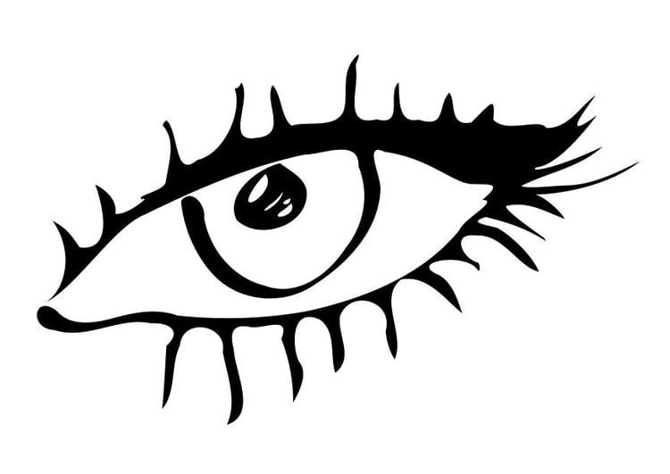 kleurplaat oog gratis kleurplaten om te printen