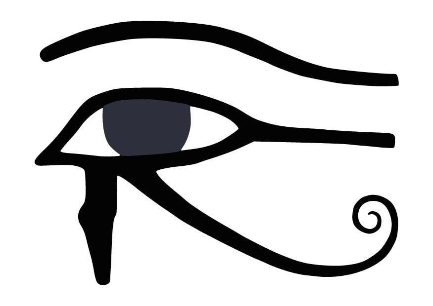 kleurplaat oog horus afb 9848