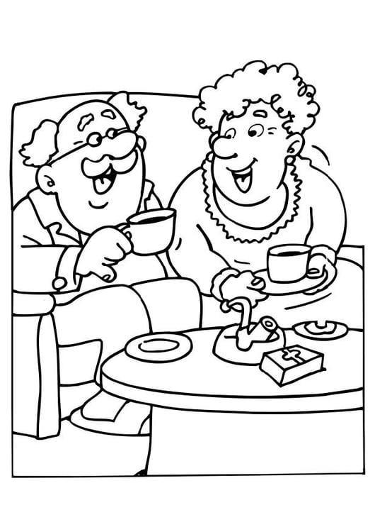 Kleurplaten Feest Opa En Oma.Kleurplaat Opa En Oma Afb 6530