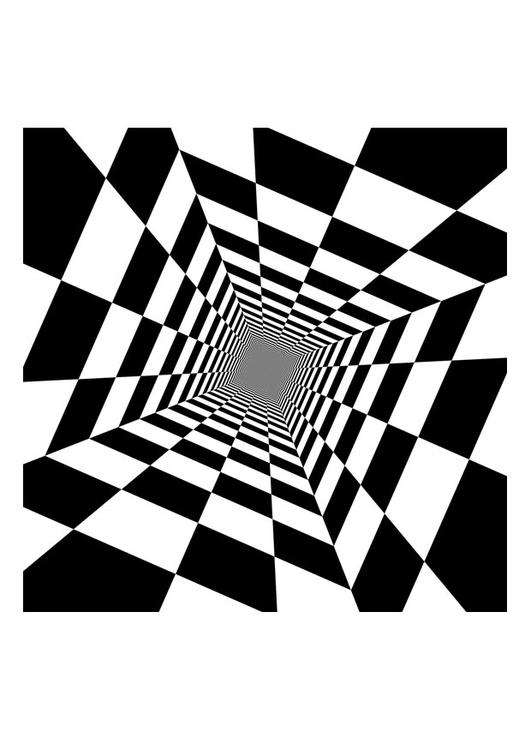Kleurplaat Optische Illusie Afb 29252