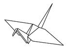 Kleurplaat origami
