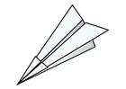 Kleurplaat origami - vliegtuig