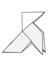 Kleurplaat origami - vogel
