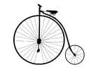 Kleurplaat oude fiets