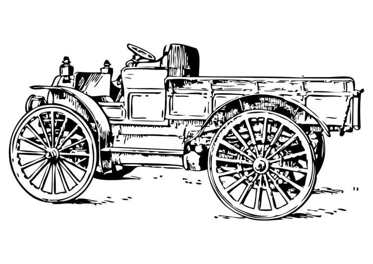 Kleurplaat Oude Vrachtwagen Afb 10473
