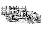 Kleurplaat oude vrachtwagen